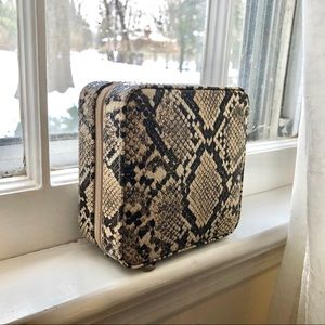 NWOT Snakeskin jewelry box
